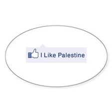 Facebook likes Palestine Decal