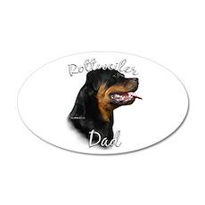 Rottweiler Dad2 20x12 Oval Wall Peel