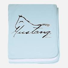 Sig Mustang baby blanket