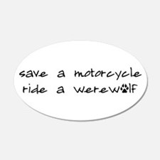 Twilight Save A Motorcycle 20x12 Oval Wall Peel