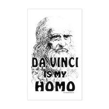 da Vinci Is My Homo Rectangle Decal