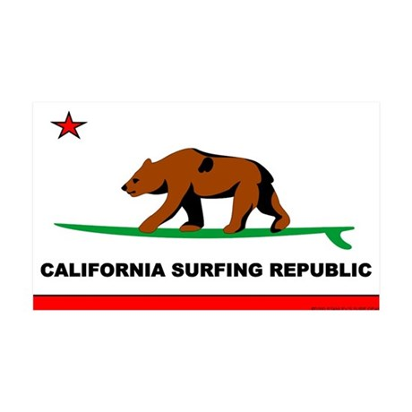 Ca. Surfing Rep. 35x21 Wall Peel