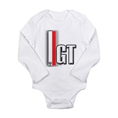 GT Red White Long Sleeve Infant Bodysuit