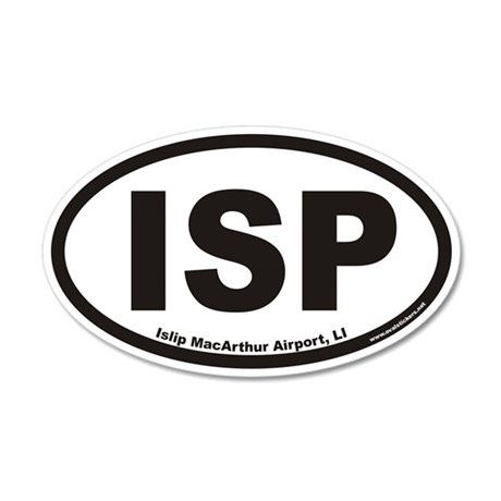 Islip MacArthur Airport ISP Euro 20x12 Oval Wall P