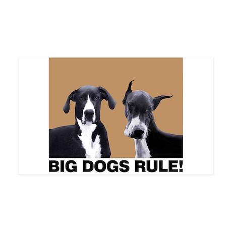 BIG DOGS RULE! 35x21 Wall Peel