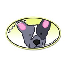 Anime Blue Heeler 20x12 Oval Wall Peel
