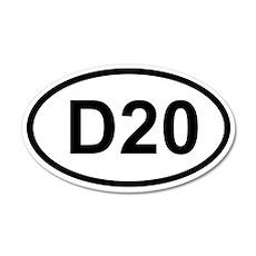 D20 20x12 Oval Wall Peel