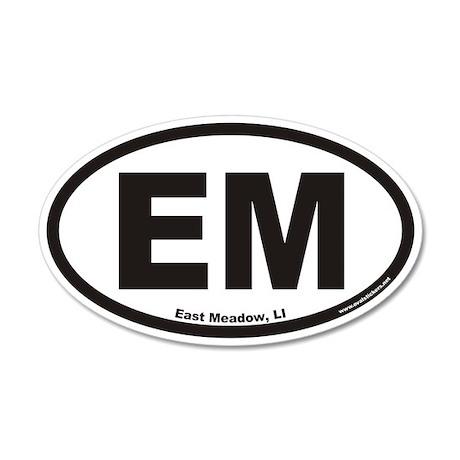 East Meadow EM Euro 20x12 Oval Wall Peel