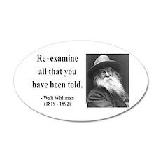 Walter Whitman 11 20x12 Oval Wall Peel