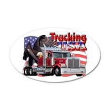 Trucking USA 35x21 Oval Wall Peel