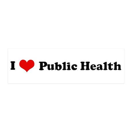 I Love Public Health 20x6 Wall Peel