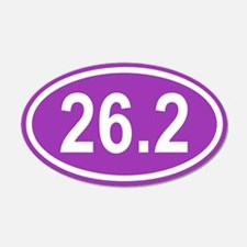 26.2 Marathon Purple Euro 20x12 Oval Wall Peel