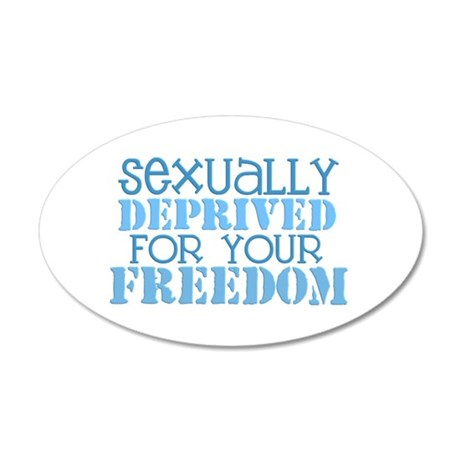 Sexually Deprived - blue 20x12 Oval Wall Peel