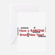 Barking Great New Year! Greeting Card