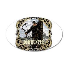 Bowhunter Archery logo 20x12 Oval Wall Peel