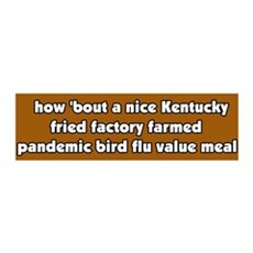 Pandemic Factory Farm Bird Flu Meal 36x11 Wall Pee