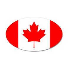 Canadian Flag 35x21 Oval Wall Peel