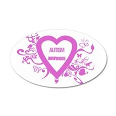 Pink Autism Awareness 20x12 Oval Wall Peel