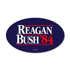 Reagan Bush '84 Campaign 20x12 Oval Wall Peel