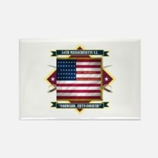 54th Massachusetts Rectangle Magnet