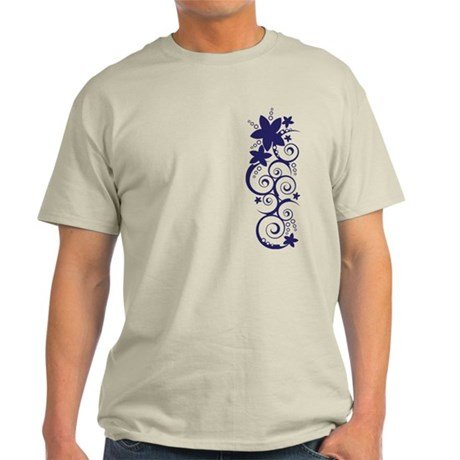 Purple Flowers Light T-Shirt