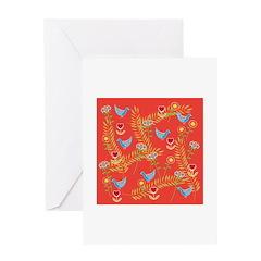 Birds 'n' Flowers Greeting Card