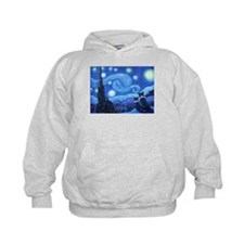 Starry Night Border Collies Hoodie