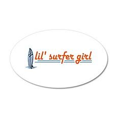 Little Surfer Girl 20x12 Oval Wall Peel