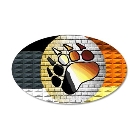 FULL OF BEAR PRIDE 20x12 Oval Wall Peel