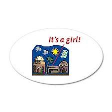 It's a Girl! - 20x12 Oval Wall Peel