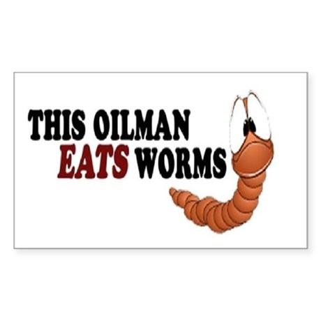 worm Sticker (Rectangle)