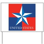 USA Star with 4 Squares Yard Sign