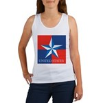 USA Star with 4 Squares Women's Tank Top