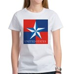 USA Star with 4 Squares Women's T-Shirt