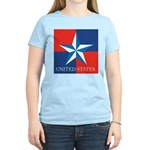 USA Star with 4 Squares Women's Light T-Shirt