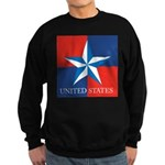 USA Star with 4 Squares Sweatshirt (dark)