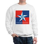 USA Star with 4 Squares Sweatshirt
