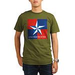 USA Star with 4 Squares Organic Men's T-Shirt (dar