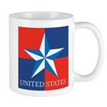 USA Star with 4 Squares Mug
