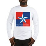 USA Star with 4 Squares Long Sleeve T-Shirt