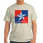 USA Star with 4 Squares Light T-Shirt