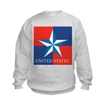 USA Star with 4 Squares Kids Sweatshirt