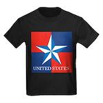 USA Star with 4 Squares Kids Dark T-Shirt