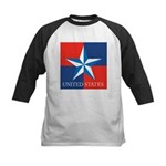 USA Star with 4 Squares Kids Baseball Jersey