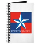 USA Star with 4 Squares Journal