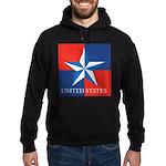 USA Star with 4 Squares Hoodie (dark)