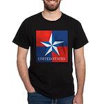 USA Star with 4 Squares Dark T-Shirt
