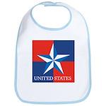 USA Star with 4 Squares Bib