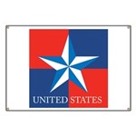USA Star with 4 Squares Banner