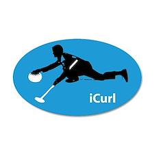 iCurl Curling 20x12 Oval Wall Peel